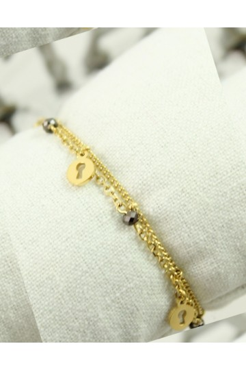 "Bracelet ""Secret"" Acier IKITA"