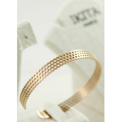 Bracelet Acier IKITA Rose Gold Perforé
