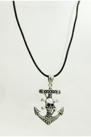 Collier pendentif ancre
