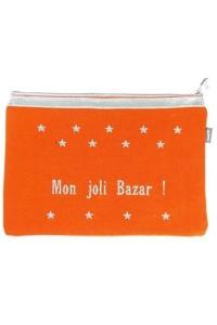"Pochette à message ""Mon joli Bazar"""