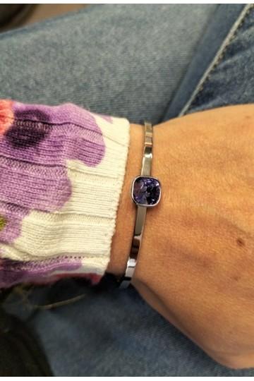 Bracelet Tanzanite - Acier&Cristal